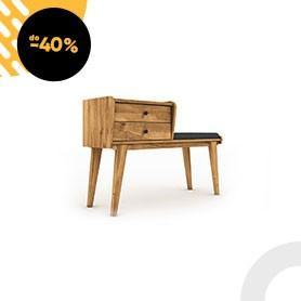 Čalouněná lavice s úložným prostorem RETRO